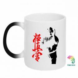 Кружка-хамелеон Kyokushin Kanku Master - FatLine