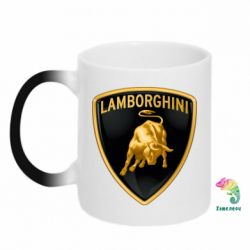 Кружка-хамелеон Lamborghini Logo - FatLine