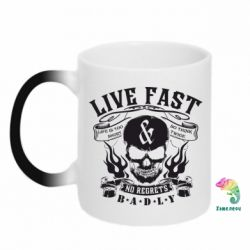 Кружка-хамелеон Live Fast and No Regrets Badly - FatLine