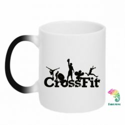 Кружка-хамелеон Logo CrossFit - FatLine