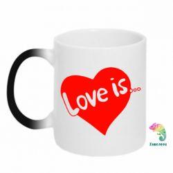 Кружка-хамелеон Love is... - FatLine