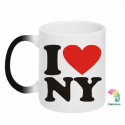 Кружка-хамелеон Люблю Нью Йорк - FatLine