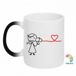 Кружка-хамелеон Любовное послание 2 - FatLine