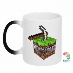 Кружка-хамелеон Minecraft Logo Сube - FatLine