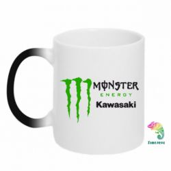 Кружка-хамелеон Monster Energy Kawasaki