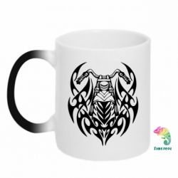 Кружка-хамелеон Мотоцикл с кельтами - FatLine