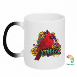 Кружка-хамелеон Multicolor birds - FatLine