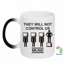 Кружка-хамелеон MUSE They will not control us - FatLine