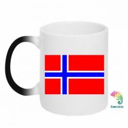 Кружка-хамелеон Норвегия - FatLine