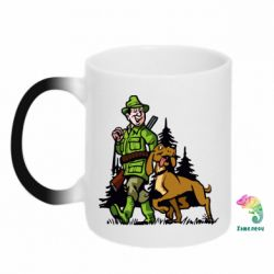 Кружка-хамелеон Охотник с собакой - FatLine