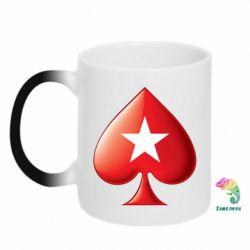 Кружка-хамелеон Poker Stars 3D Logo - FatLine