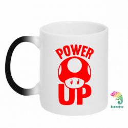 Кружка-хамелеон Power Up гриб Марио