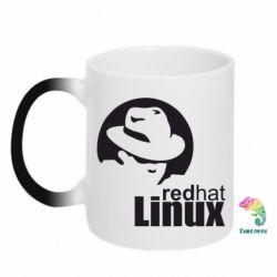 Кружка-хамелеон Redhat Linux - FatLine