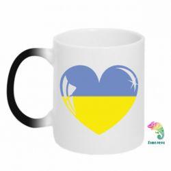 Кружка-хамелеон Сердце України - FatLine