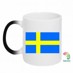 Кружка-хамелеон Швеция - FatLine