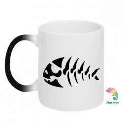 Кружка-хамелеон скелет рыбки - FatLine