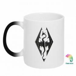 Кружка-хамелеон Skyrim Logo 3D - FatLine