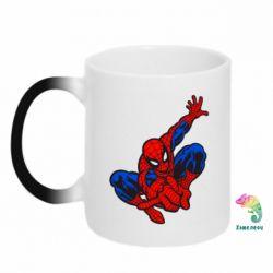Кружка-хамелеон Spiderman - FatLine