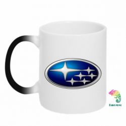 Кружка-хамелеон Subaru 3D Logo - FatLine
