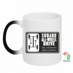 Кружка-хамелеон Subaru All-Wheel - FatLine