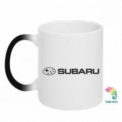 Кружка-хамелеон Subaru logo - FatLine