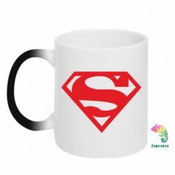Кружка-хамелеон Superman одноцветный - FatLine
