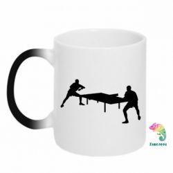 Кружка-хамелеон Теннисный стол - FatLine