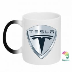 Кружка-хамелеон Tesla Corp - FatLine