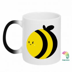Кружка-хамелеон толстая пчелка - FatLine