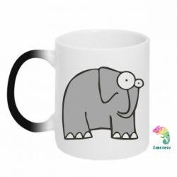 Кружка-хамелеон удивленный слон - FatLine
