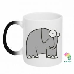 Кружка-хамелеон здивований слон - FatLine