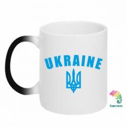 Кружка-хамелеон Ukraine + герб - FatLine