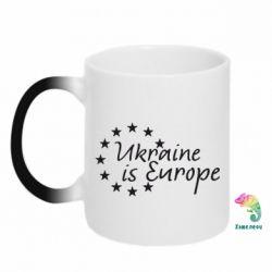 Кружка-хамелеон Ukraine in Europe - FatLine