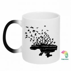 Кружка-хамелеон Українські птахи - FatLine