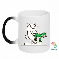 Кружка-хамелеон Вежливый кот - FatLine