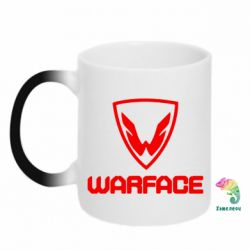 Кружка-хамелеон Warface Logo - FatLine