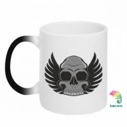 Кружка-хамелеон Winged Skull - FatLine