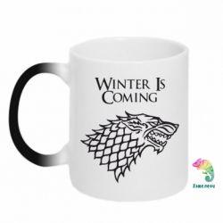 Кружка-хамелеон Winter is coming (Игра престолов) - FatLine