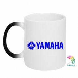 Кружка-хамелеон Yamaha Logo - FatLine