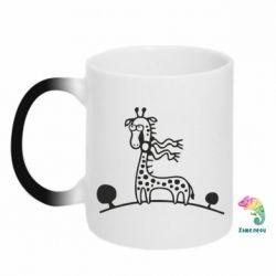 Кружка-хамелеон жираф - FatLine