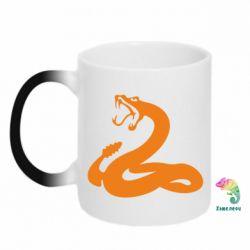 Кружка-хамелеон Змея - FatLine