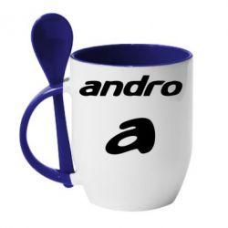 Кружка с керамической ложкой Andro - FatLine