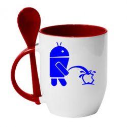 Кружка с керамической ложкой Android унижает Apple - FatLine