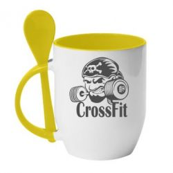 Кружка с керамической ложкой Angry CrossFit - FatLine
