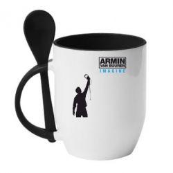 Кружка с керамической ложкой Armin Imagine - FatLine