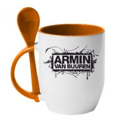 Кружка с керамической ложкой Armin Van Buuren - FatLine