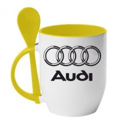 Кружка с керамической ложкой Audi Big - FatLine