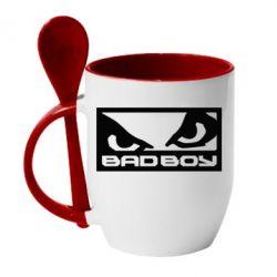 Кружка с керамической ложкой Bad Boy - FatLine