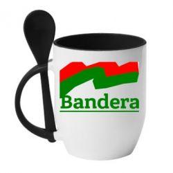Кружка с керамической ложкой Bandera - FatLine