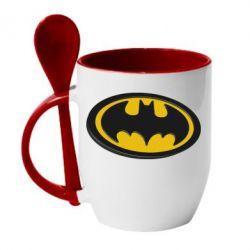 Кружка с керамической ложкой Batman 3D - FatLine